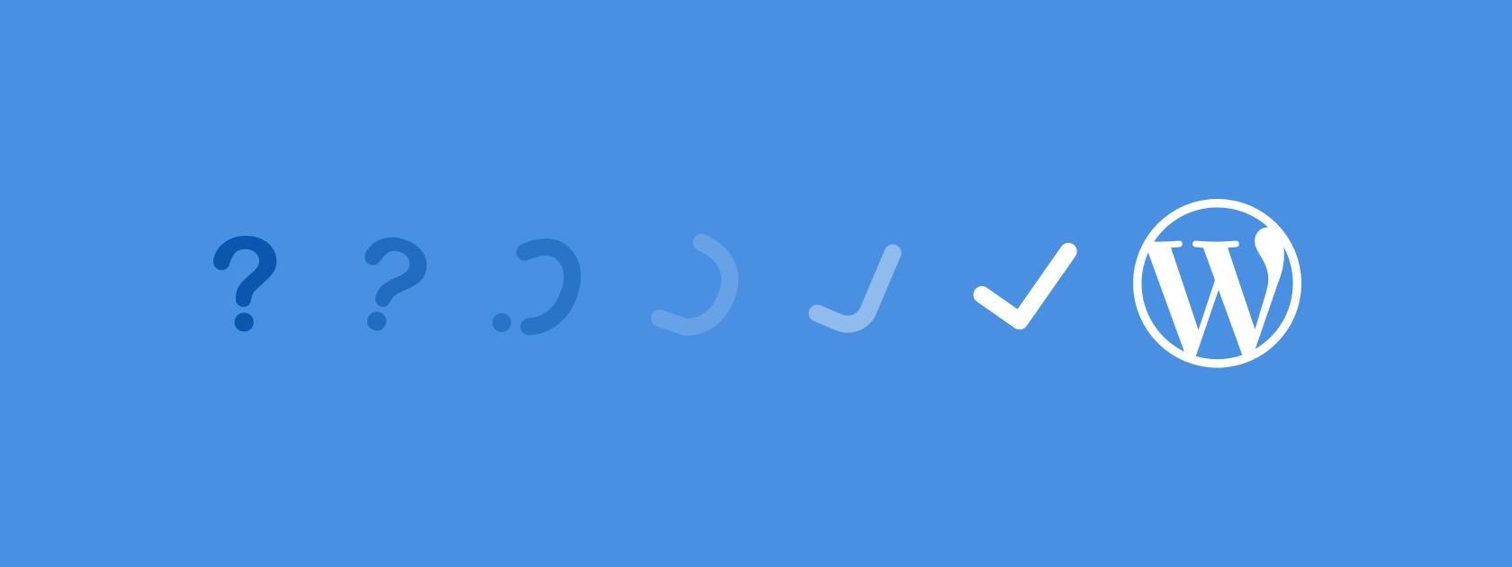 An automated wordpress update failure
